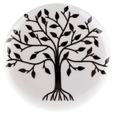 White & Black Tree Knob